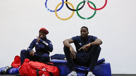 Lawrence Okolie, seen relaxing with team-mate Nicola Adams at the Rio Olympics, is ready to make his