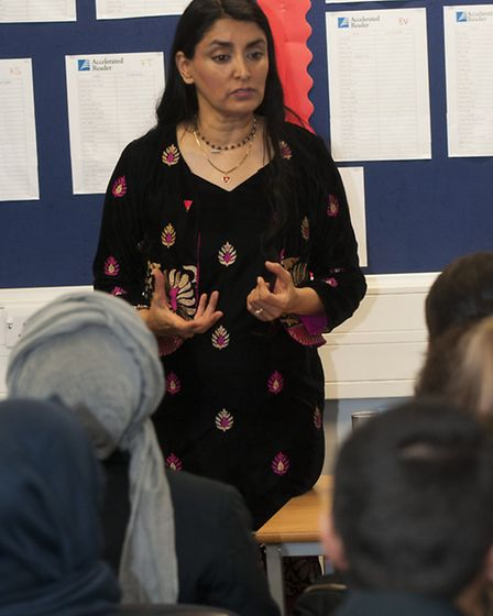 Freedom Charity founder and author, Aneeta Prem, marking International FGM day by giving a talk on f