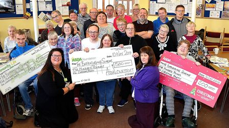 The Befriending Scheme has been boosted with a £500 cheque from Asda Lowestoft for its Christmas par