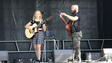 Rose-May Simpson performing at the Brothers-in-Arms memorial concert. Picture: Courtesy of Shannon N