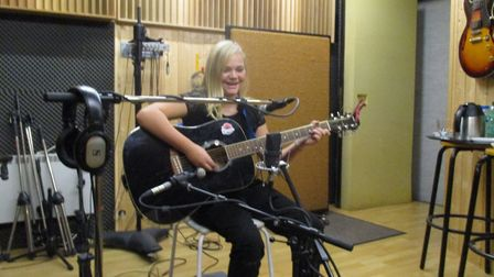Rose-May recorded a studio version of her song 'Jack and Jim' for the memorial project CD. Picture: