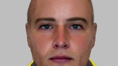 An e-fit of a man wanted for questioning after the Woodberry Down Estate distraction burglary. Pictu