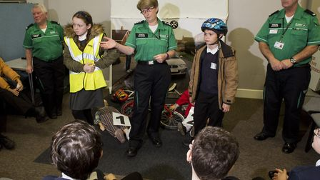 Schools from the Waveney area take part in the Crucial Crew event in Lowestoft.Picture: Nick Butcher