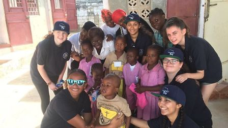 Six police cadets went to Gambia