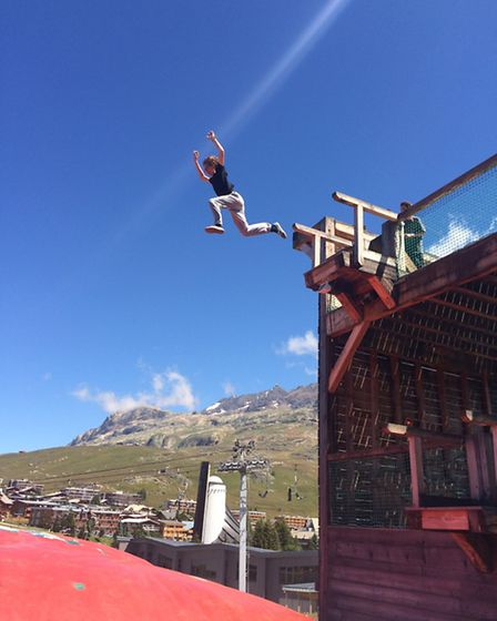 The jumping centre in Alpe d'Huez