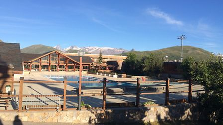 The public swimming pool in Alpe d'Huez. Photo: Emma Bartholomew