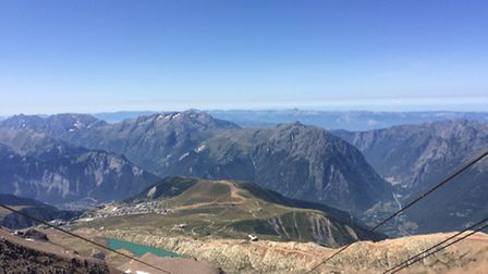 The view from the Midi Blanc, above Alpe d'Huez. Photo: Emma Bartholomew