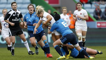 Saracens' Vicky Fleetwood is part of the England Women's squad aiming for a Six Nations grand slam i