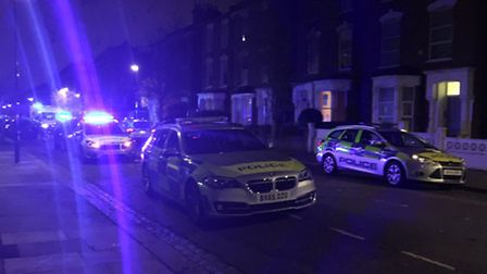 Police were called to Wilberforce Road in Finsbury Park last night. Picture: @999London