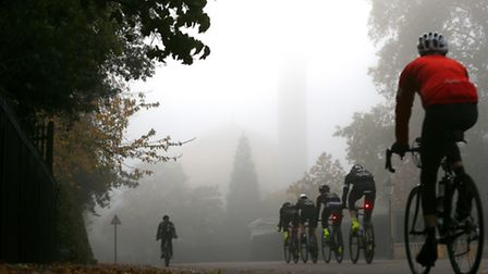 Cyclists training in Regents Park