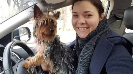 Patricia with Lily, her Yorkshire terrier who is missing