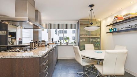 The interior of the kitchen at Highpoint I