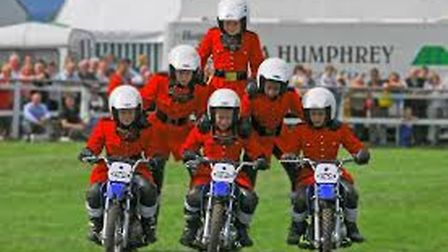 A group of British Imps riders in formation (pic: Graham Doderidge)