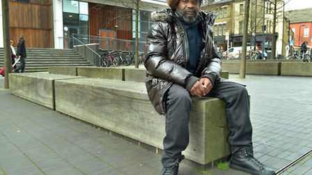 Cecil Hayes outside Dalston's CLR James Library. Picture: Polly Hancock