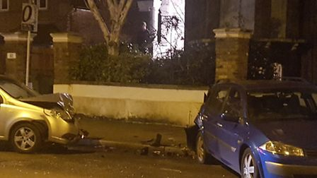 The scene in Lordship Road last night. Picture: Mendy Kahan
