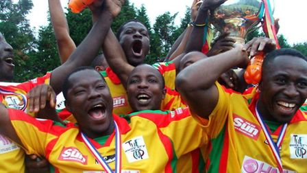 Ghana celebrates winning the Inner City World Cup
