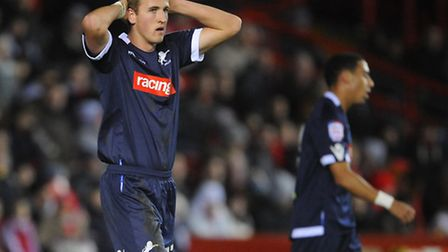 Harry Kane rues a missed chance during his loan spell with Millwall in 2012 (pic Joe Giddens/Empics)