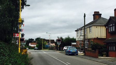Westerfield Level Crossing. Picture; NETWORK RAIL