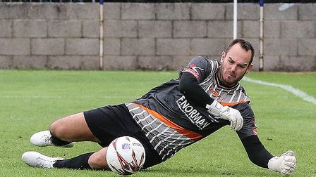 Wingate & Finchley goalkeeper Shane Gore. Picture: MARTIN ADDISON