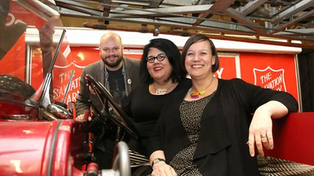 Night Czar Amy Lam� joins Meg Hillier MP and Mayor of Hackney Philip Glanville in visiting Shoredit