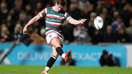 Freddie Burns scored 17 points as Leicester Tigers defeated Saracens in the Anglo-Welsh Cup. Picture