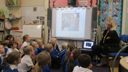 Alison Wright delivered her disability and difference workshops to children at Somerleyton Primary S