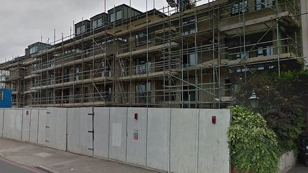 The development in Seven Sisters Road is expected to be finished soon. Picture: Google