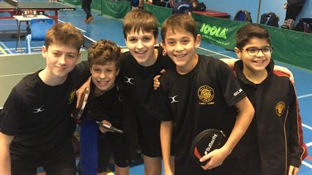 University College School's U13 table tennis team has reached the final four of a national tournamen