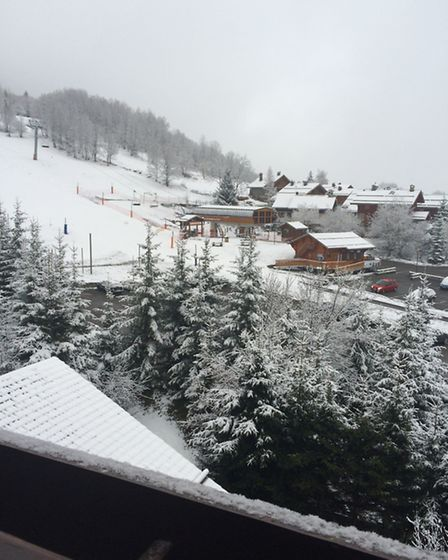 The view to the ski lift from La Ferme