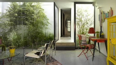The interior courtyard at Regents Park Nash Terrace by Belsize Architects