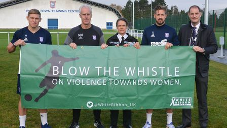 Ipswich Town Football Club and Suffolk Constabulary support the White Ribbon campaign. Picture: KARE