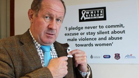 Suffolk's Police and Crime Commissioner Tim Passmore backing the White Ribbons campaign. Picture: CO