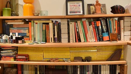 Shelves in Camden councillor and Green London AM Sian Berry's Archway flat