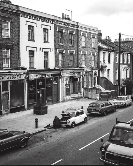 Cecilia Road, where Andrew Holligan lived, in the 1980s. Picture: Andrew Holligan