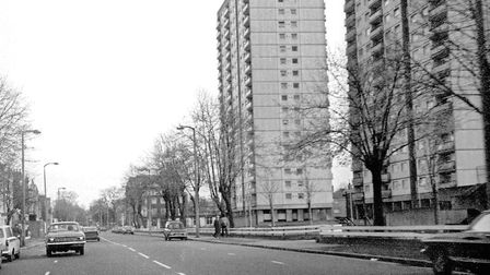 The Holly Street Estate, Queensbridge Road, 1983. Picture: Alan Denney