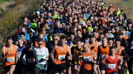 The start of the Adnams 10K race. Picture: PAGEPIX