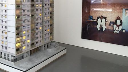 The eight foot model of the Holly Street tower block