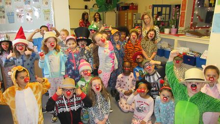 Red Nose Day at Coldfall Primary School.