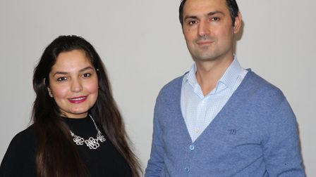 Hampstead-based teacher Haleh Babavand and her husband Ash Parsa, who founded Impact Tutors.