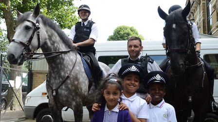 Pc Neil Parhams team visits Muslim primary school The Olive School.