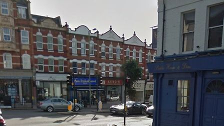The woman claims she was pushed over by the Bald Faced Stag pub in East Finchley