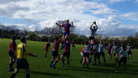 Hendon claim this line-out but Old Streetonians took the win and promotion.