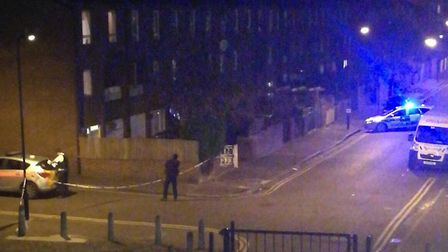 Ballance Road in Homerton was taped off last night.