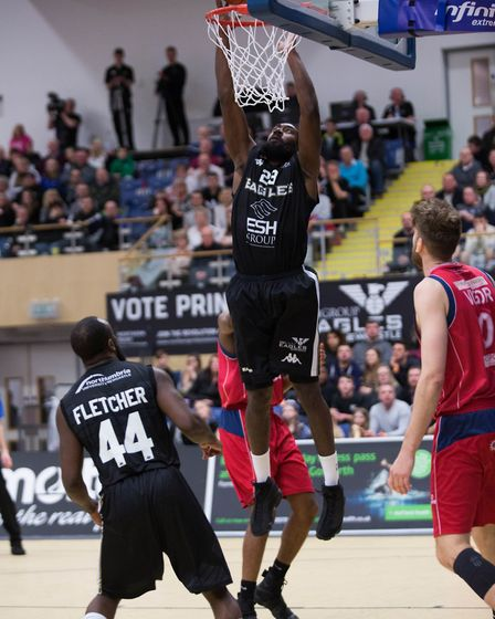 Hackney-born Orlan Jackman in action for Newcastle Eagles. Picture: DAVE MOORE