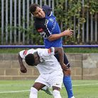 Ahmet Rifat scored the only goal for Wingate & Finchley in their 1-0 win over Grays Athletic. Pictur