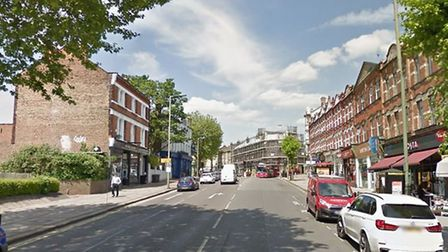 The first incident occurred in High Road, East Finchley. Picture: Google