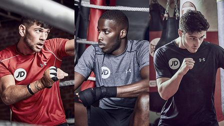 Lawrence Okolie (centre) has been added to the undercard for the Anthony Joshua-Wladimir Klitschko b