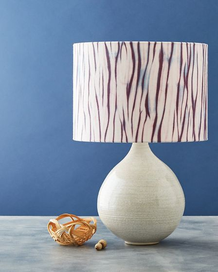 Muswell Hill Creatives' Romor Designs lampshade with Isabella Lepri base