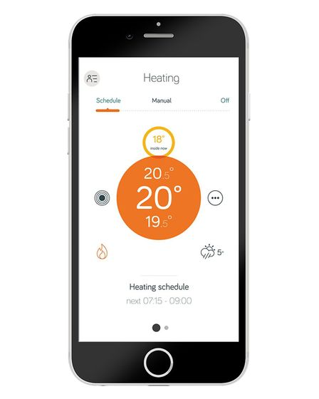 The Hive app lets you control your heating from your phone