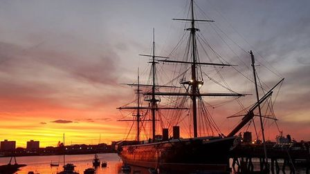 This wonderful shot of HMS Warrior at Portsmouth docks has won The Journal's Picture of the Week. Ph